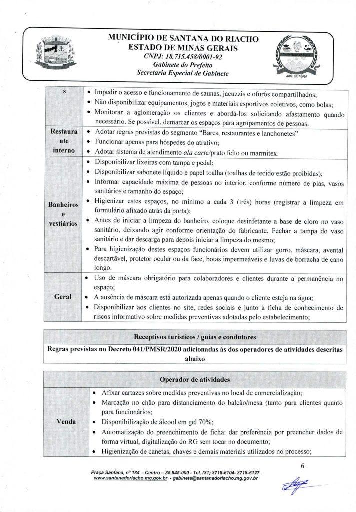 Decreto Reabertura Serra do Cipo Pagina 6