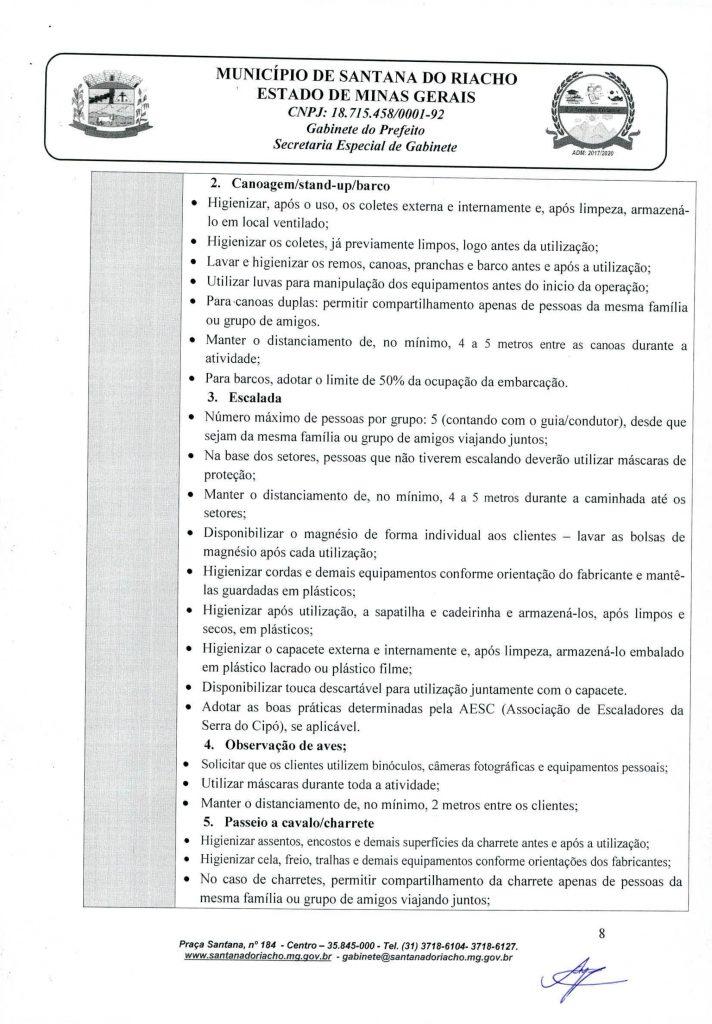 Decreto Reabertura Serra do Cipo Pagina 8