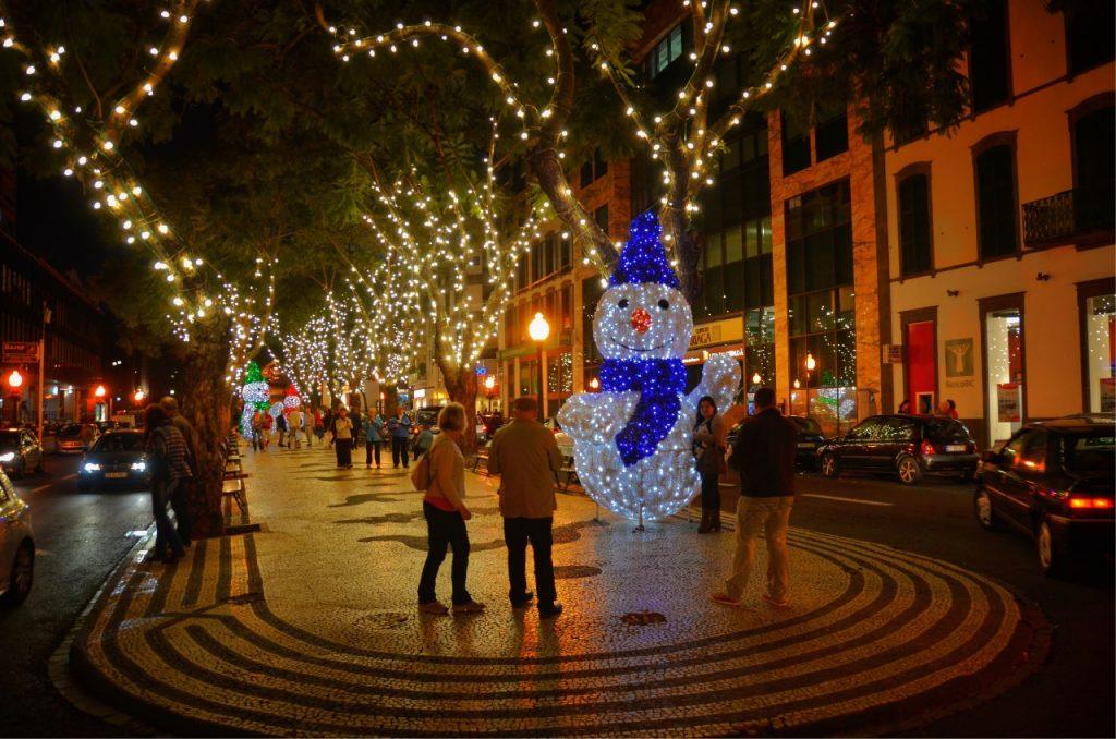 Natal na Ilha da Madeira Ruas decoradas