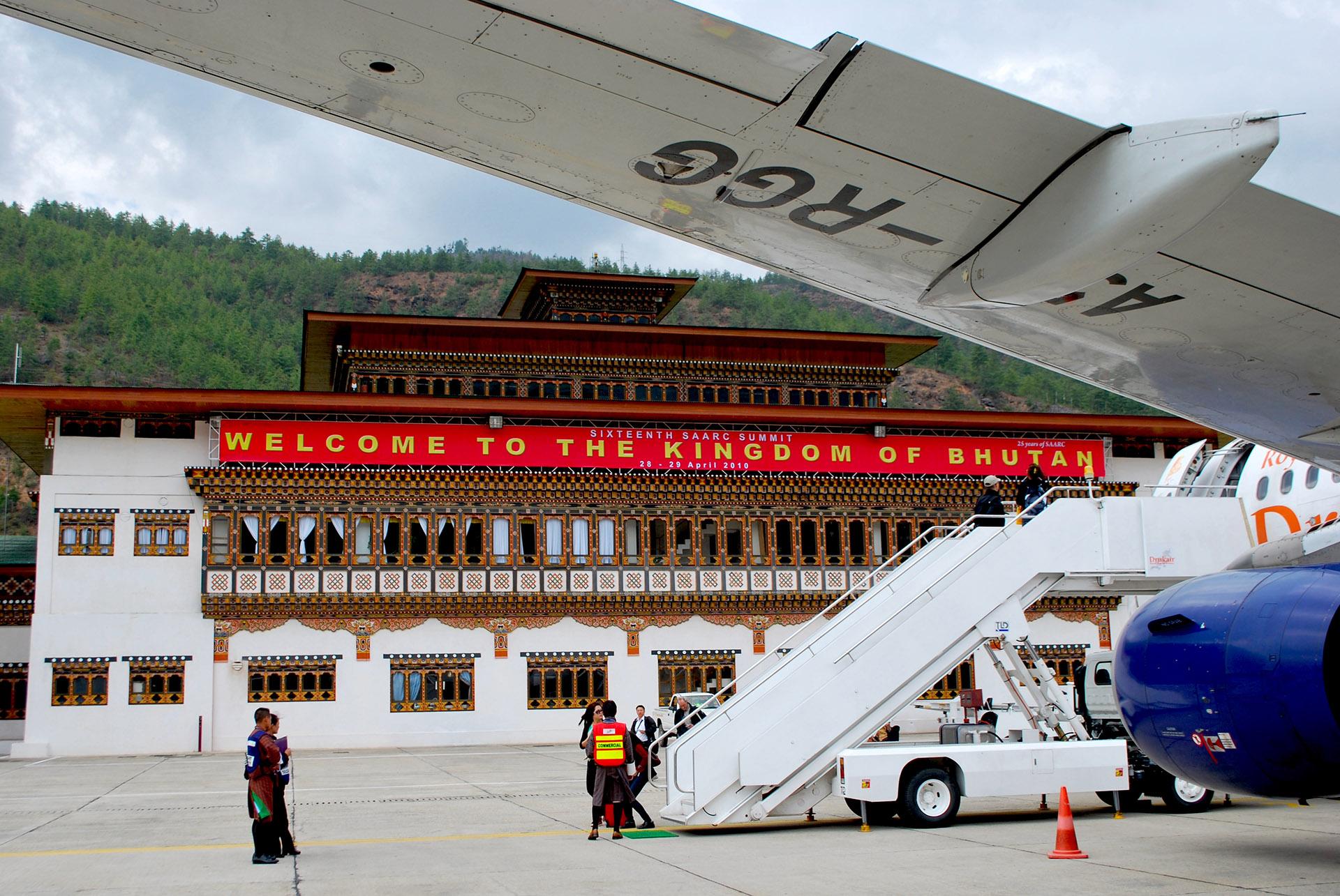 Reino do Butão aeroporto