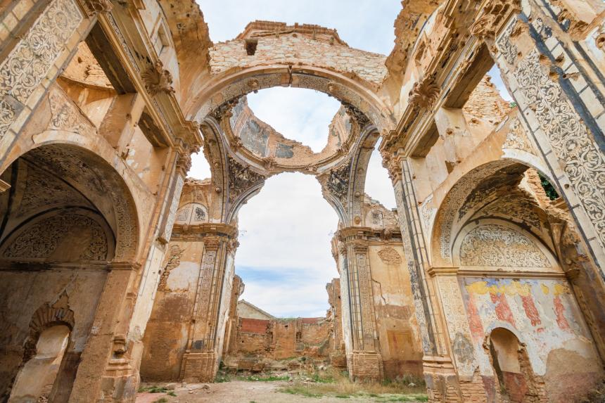 Belchite Espanha Locais abandonados